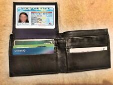 Bifold Wallet Men's Genuine sheep Leather Black Credit/ID Card Holder Slim Purse