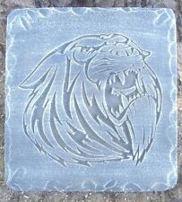 "growling tiger stepping stone mold plaster concrete mould 12"" x 11"" x 1.20"""