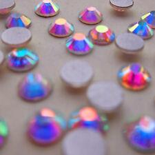 SS34 (7.2mm) Crystal AB Round Rhinestones Flatback Strass Glass Nail Art 50ps U1