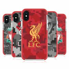 LIVERPOOL FC LFC DIGITAL CAMOUFLAGE RED SHOCKPROOF BUMPER CASE FOR iPHONE PHONES