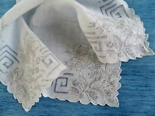 More details for an antique appenzell type embroidered handkerchief