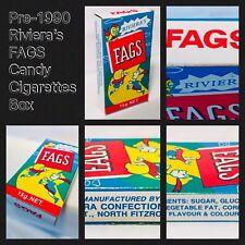 Vintage 1989 Riviera's FAGS Candy Cigarettes Sticks Box container bubble gum PEZ
