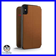 TWELVE SOUTH SurfacePad minimalist leather case/cover for iPhone X, Cognac