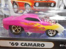 PINK FLAMES 1969 69 CAMARO CHEVY 2001 FUNLINE MUSCLE MACHINES 1/64 diecast car