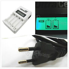 NIMH NICD Quick charger 2A AA AAA LCD Display Rechargeable battery EU Ultracell