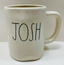 RAE DUNN Personalized Name Ceramic Coffee Tea Mug JOSH in Large Letters NWOT!