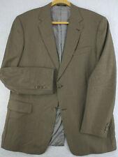 HART SCHAFFNER & MARX Vtg 90s Tan Beige Wool Sport Coat Blazer Suit Jacket 44L