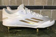 Adidas Adizero Size 13.5 Afterburner 2.0 Metal Baseball Cleats White Gold F37628
