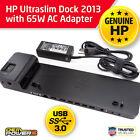 HP UltraSlim Dock 2013 US Docking Station + 65W AC Adapter D9Y32UT D9Y32AA#ABA
