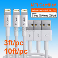 LOT Apple Certified MFI Lightning USB Sync Charger Cable iPhone XS Max 8 7 Plus