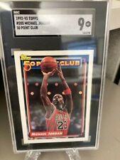 1992-93 Topps #205 Michael Jordan 50 Point Club SGC 9