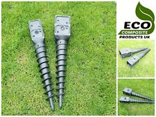More details for saddar eco composite ground screw-in fence square post anchor spike support