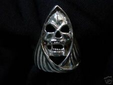 LOOK Grim Reaper Death Gothic ring Jewelry Skull Sterling Silver 925 Jewelry New