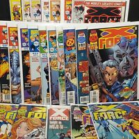 X-Force Comic Book Lot, 22 total Marvel Comics, X-Men, Cable, Domino, Cards
