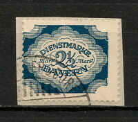 (YYAU 821) Bayern 1920 USED Mich 59 Scott O49 OFFICIAL DIEN Bavaria Germany