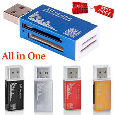 para Micro Sd Sdhc Tf M2 MMC MS Pro Dúo Todo en uno 1 USB 2.0 Múltiple Memoria