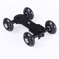 Desk DSLR Camera Video Photograph Rail Rolling Track Slider Dolly Car Toy Skate