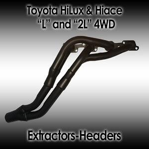 "Toyota HiLux & Hiace ""L"" 2.2lt & ""2L"" 2.4lt,  4WD, July 1988, Extractors/headers"
