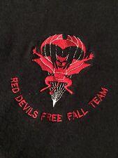 Army Red Devils FreeFall Parachute Regiment Airborne Screen Stars Sweatshirt Vtg