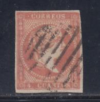 ESPAÑA (1855) USADO SPAIN - EDIFIL 48 (4 cu) ISABEL II LOTE 1