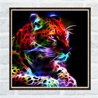 Leopard Full Drill 5D DIY Diamond Painting Embroidery Cross Crafts Art Decor