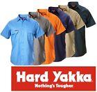 HARD YAKKA MENS DRILL SHORT SLEEVE WORK SHIRTS Y07510