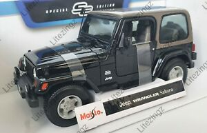 NEW MAISTO 1:18 Diecast Model Jeep Wrangler Sahara in Black
