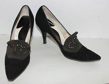Vtg 50'S Life Stride Pointy Stiletto Heel Pinup ShoesRhinestone Studded 7 1/2