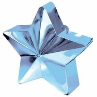 Pale Blue Star Balloon Weight Helium Foil Birthday Wedding Party Decoration