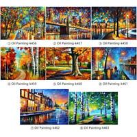 5D DIY Full Drill Diamond Oil Painting Landscape Cross Stitch Embroidery Mosaic