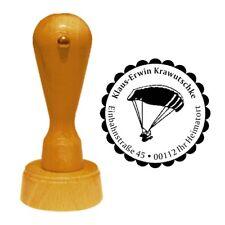 Stempel « GLEITSCHIRMFLIEGEN » Adressenstempel Motiv Name Paragliding Sport Luft