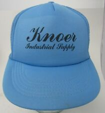 VTG Knoer Industrial Supply Advertising Trucker Hat Cap Blue Mesh A11