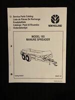 New Holland Service Parts Catalog 185 Manure Speeader *1289