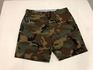 "NWT $89.50 Polo Ralph Lauren Mens Classic Fit 9"" Camo Shorts Size 36"