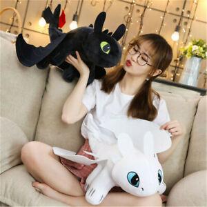 How To Train Your Dragon 3 35cm Toothless Night Fury Light Fury Plush Doll UK