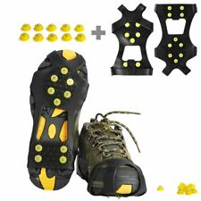 Willceal Ice Cleats, Ice Grippers Traction Cleats Shoes Boots Spikes Rubber Snow