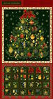 Fabri-Quilt Christmas Ornaments Advent Calendar 100% cotton Fabric by the panel