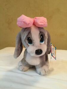 "Applause Strutting Honey Plush Dog 8"" Vintage 1987 with Tags"