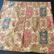 Pottery Barn Pillow Cover 24 X 24 Paisley Brown Rust Blue Green