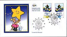 S126/07+ FDC  2  ENVELOPPES 1er JOUR  CEF CONSEIL DE L'EUROPE