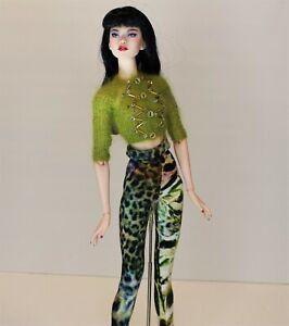 "RETROS Beaded Sequin Sweater Set 16"" NUMINA Gene Sybarite Jamieshow Dolls"