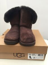 Genuine Ugg Australia Bailey Button Boots Size UK5 US7 Brown