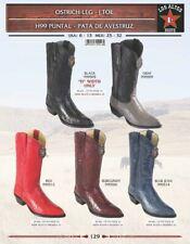 Los Altos Men's Genuine Ostrich Leg J Toe Western Boots
