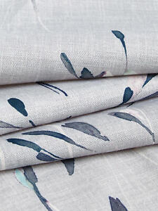 REMNANT John Lewis NERINE Furnishing Fabric - BLUE GREY - Approx 137cm x 1.1M