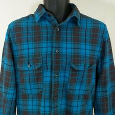 Mossimo Mens Shirt Athletic Fit Long Sleeve Button Down Blue Plaid Size Small