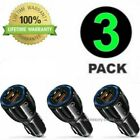 3 Pack 2 USB Port Fast Car Charger Adapter for iPhone Samsung Android Cell Phone