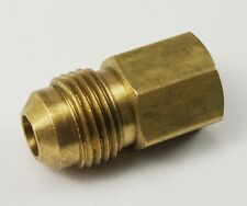"MALE 3/8"" FLARE TO FEMALE 1/4"" NPT PIPE THREAD PROPANE NATURAL GAS FITTING LPG"