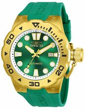 Invicta Men's Pro Diver Master of the Ocean Auto Gold Tone & Green Poly Watch