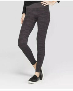New Assets By Spanx High Seamless Shaping Leggings Gray Camouflage FL4715 Sz XL