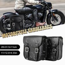 2x Black Motorcycle Side Bags Saddlebag For Honda Suzuki Kawasaki Yamaha KTM